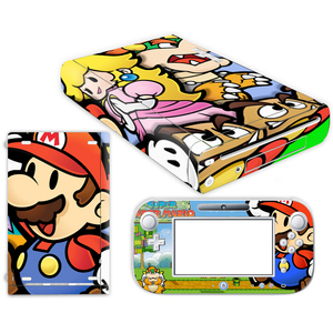 Image 4 - Super Mario Skin Sticker for Nintendo Wii U Console Cover with Remotes Controller Skins For Nintend wii u sticker