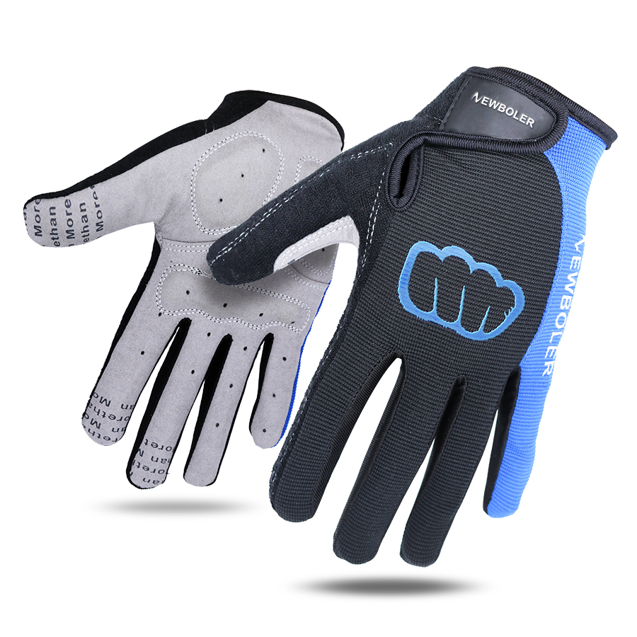 2018 NEWBOLER Cycling Gloves Men Sports Full Finger Anti Slip Gel Pad Motorcycle MTB Road Bike Bicycle Winter Gloves Long Finger brand spakct silicone gel full finger cycling gloves skull bike bicycle men slip for mtb riding sweat green black with white