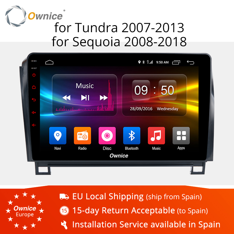 10.1 Ownice K1 K2 K3 8 Octa Núcleo Android 9.0 car dvd player GPS Para Toyota Tundra 2007-2013 sequoia 2008-2018 Rádio Estéreo