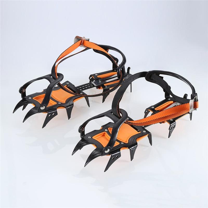1 paire de Livré Crampons Professionnel 12-point Manganèse Acier Pince À Glace Glace Crampons Neige Conseil Pour Ski Escalade