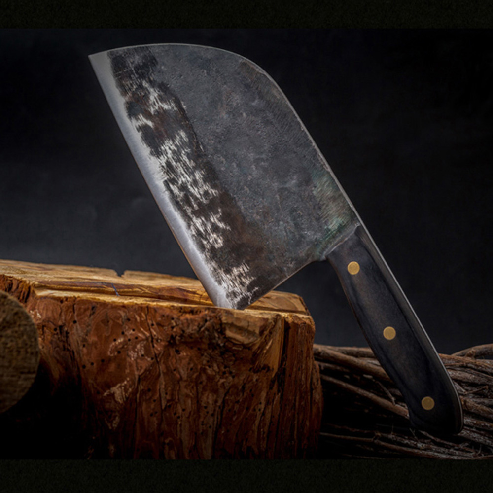 US $17.98 72% OFF|XYj Chinese Cleaver Handmade Forged Kitchen Knife High  Carbon Steel Butcher Knives Full Tang Fillet Handle Slaughter Cutlery-in ...