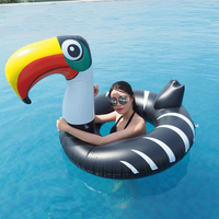 140cm Giant Balck Toucan Unicorn Swimming Ring 2019 Newest Pool Float For Women Men Water Toys Lounger Air Mattress Boia Piscina