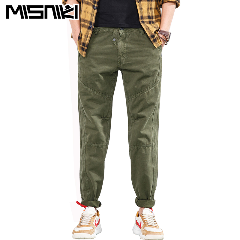MISNIKI 2018 new arrivals fashion men cargo pants multi pocket military overall for men long trousers AXP60