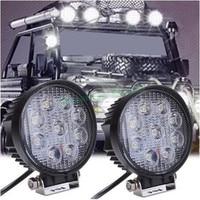 4 Inch 27W 12V 24V LED Work Light Spot Flood Round LED Offroad Light Lamp Worklight