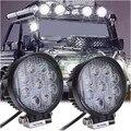 2 unids 4 Pulgadas 27 W 12 V 24 V del Trabajo del LED Luz Del Punto/de la Inundación Ronda LED Lámpara Ligera campo a través de luz de Trabajo para Off road Motocicleta Del Carro Del Coche caliente
