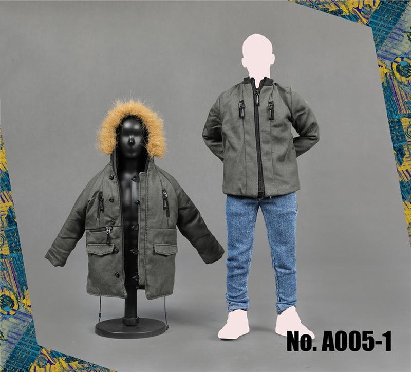 1/6 ชายปลอกคอขนยาว Coat Hoodie เสื้อและกางเกงชุดสำหรับ 12''Action ตัวเลขร่างกายอุปกรณ์เสริม A005-ใน ฟิกเกอร์แอคชันและของเล่น จาก ของเล่นและงานอดิเรก บน   1