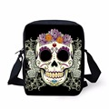 FORUDESIGNS Women Casual Handbags For Ladies Shoulder Cross-body Bag 3D Skull Pattern Men Messenger Bags Bolsa Feminina Grils