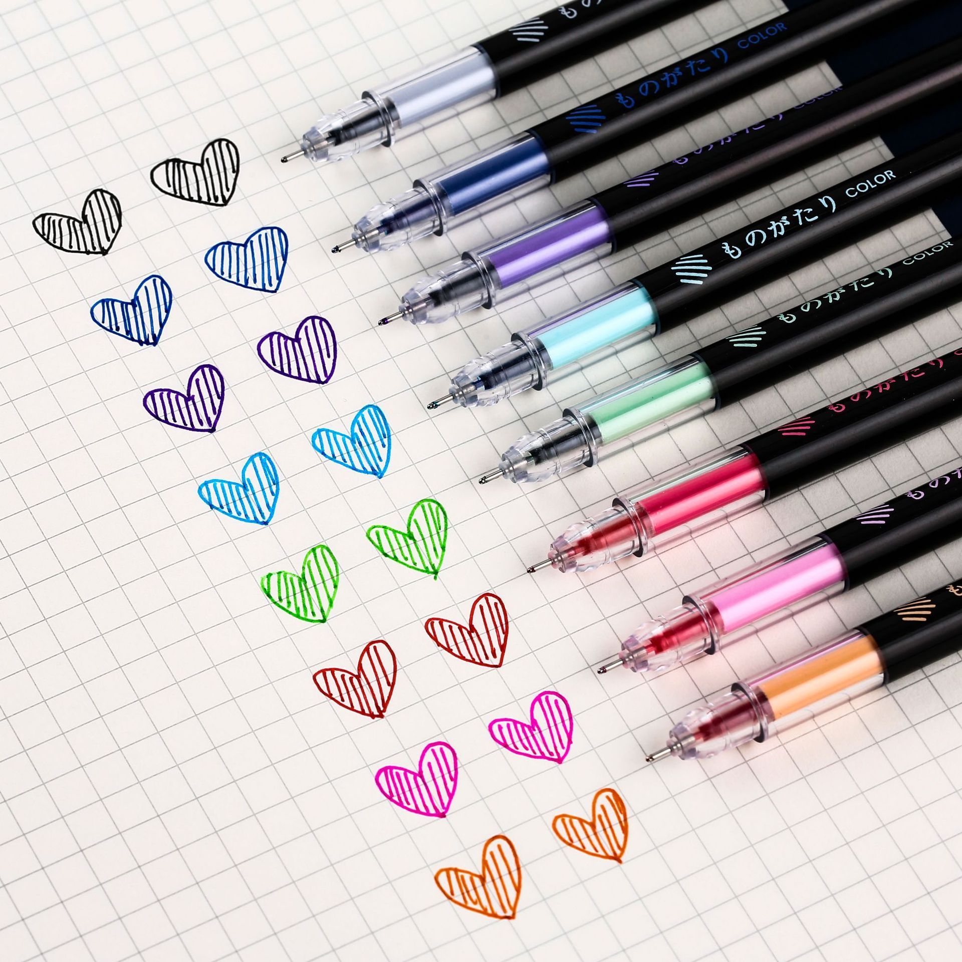 8pcs Creative DIY School Student Stationery 0.5mm Colored Ink Gel Pen Fashion Bullet Journal Fineline Pen Supplies