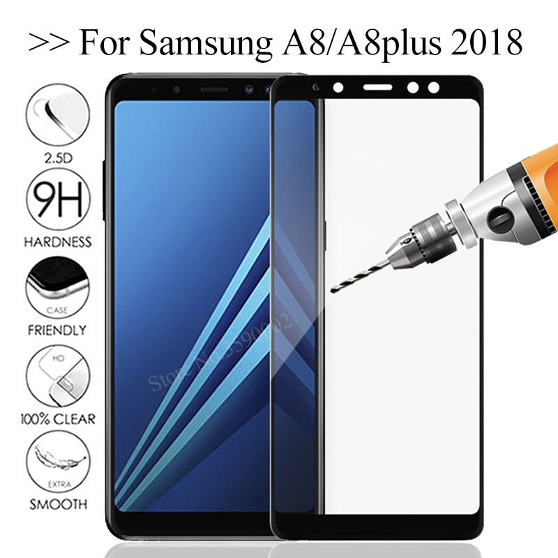 Safety <font><b>Glass</b></font> For <font><b>Samsung</b></font> A8 <font><b>2018</b></font> Tempered <font><b>Glass</b></font> on the For <font><b>Samsung</b></font> Galaxy A8 Plus <font><b>2018</b></font> A730F A530F a8plus <font><b>a</b></font> <font><b>8</b></font> a8+ 8a Glas Cover image