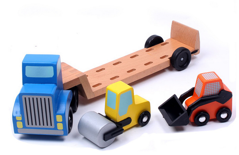 Montessori Kids Toys Baby Toys Wood Cars Carrier Loader Model Truck Learning Educational Preschool Training Brinquedos Juguets