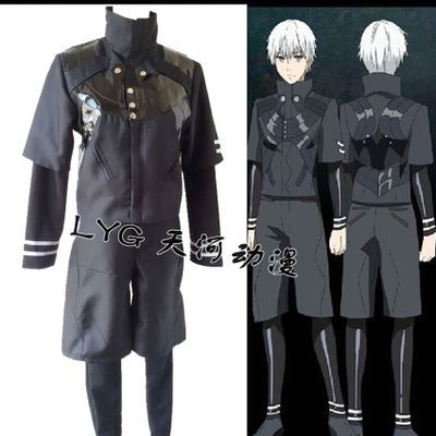 New Arrival Anime Tokyo Ghoul cosplay costume Halloween Cosplay Clothes Kaneki Ken Costumes 2 in 1 t-shirt+shorts/ top+pants mannequin