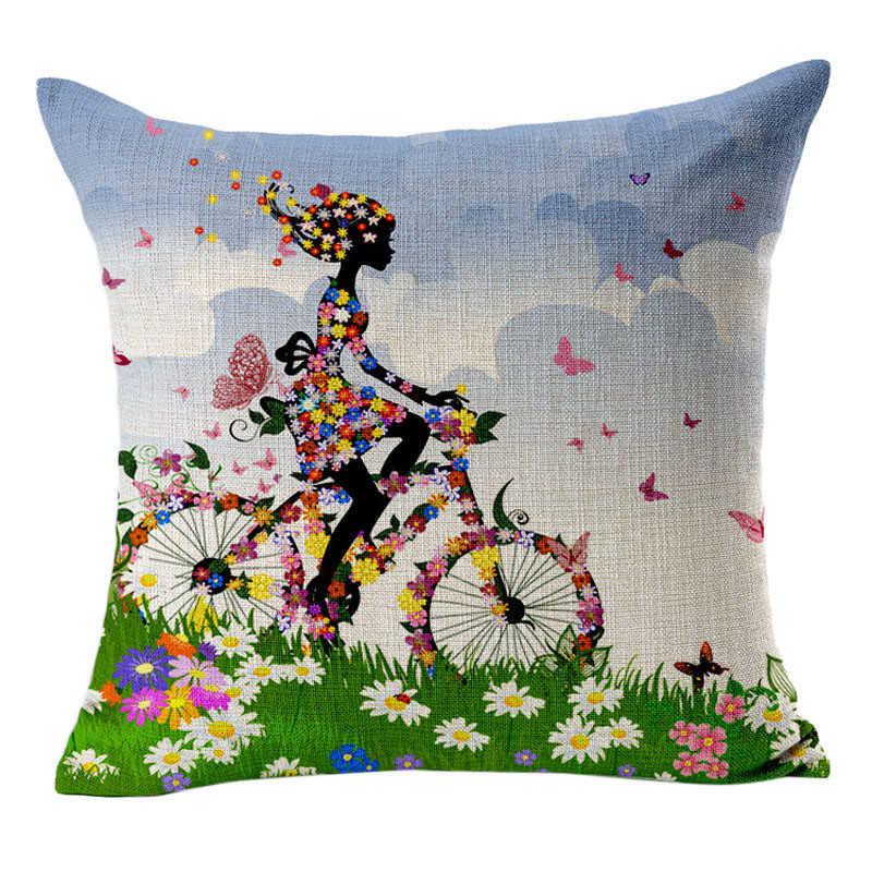Image 4 - Привлекательные цветы, печать на ткани накидка для подушек супер ткань Чехлы для подушек пледы Наволочка на подушку-in Наволочка from Дом и животные