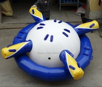 2017 factory customized inflatable saturn water park UFO boat inflatable water sports game