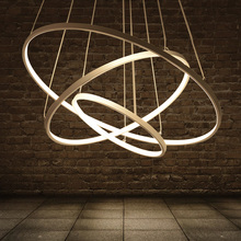 Circles modern led pendant Chandeliers lights for living room acrylic cerchio anello lampadario lighting lamp lamparas modernas