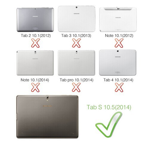 CucKooDo 100pcs/lot Slim-Fit Folio PU Leather Smart Cover Case for Samsung Galaxy Tab S 10.5-inch tablet ,with Auto Sleep/Wake