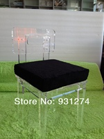 Free Shipping Lucite Acrylic Dining Chair Plexiglass Wedding Chairs