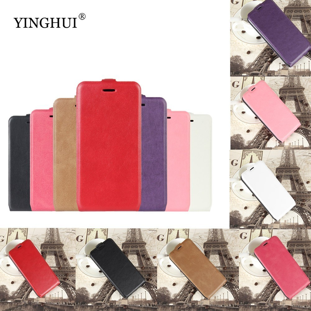 YINGHUI For <font><b>Homtom</b></font> HT17 Pro Case 5.5 inch Wallet PU Leather Back Cover Phone Case For <font><b>HT17Pro</b></font> Flip Protective Bag Skin image