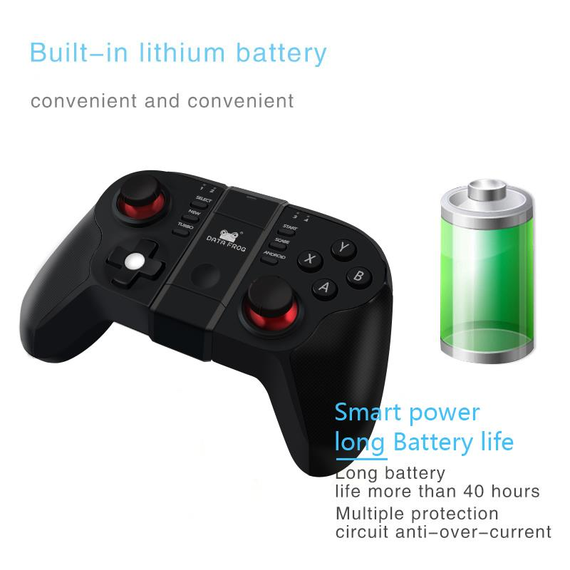 Image 4 - Data Frog VR Bluetooth Android Gamepad Wireless Joystick Controller For PC Smart TV  Mini Gaming Gamepads-in Gamepads from Consumer Electronics
