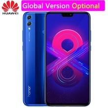 Huawei Onur 8X MobilePhone 6.5 inç Ekran Android 8.2 16.0MP Ön Kamera Google oyun Çoklu Dil Smartphone