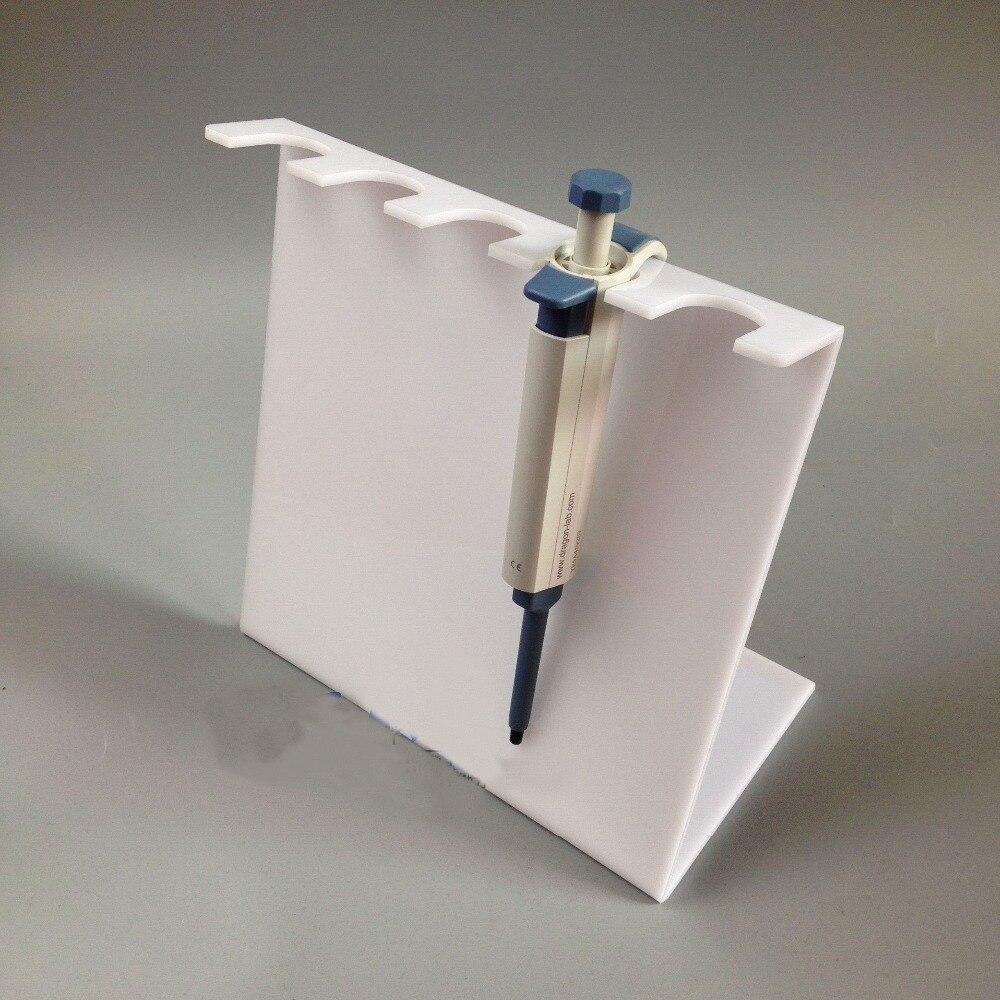 5mm haute qualité Z forme PMMA Acrylique pipette rack 5 trous 6 trous type simple blanc et transparent livraison gratuite