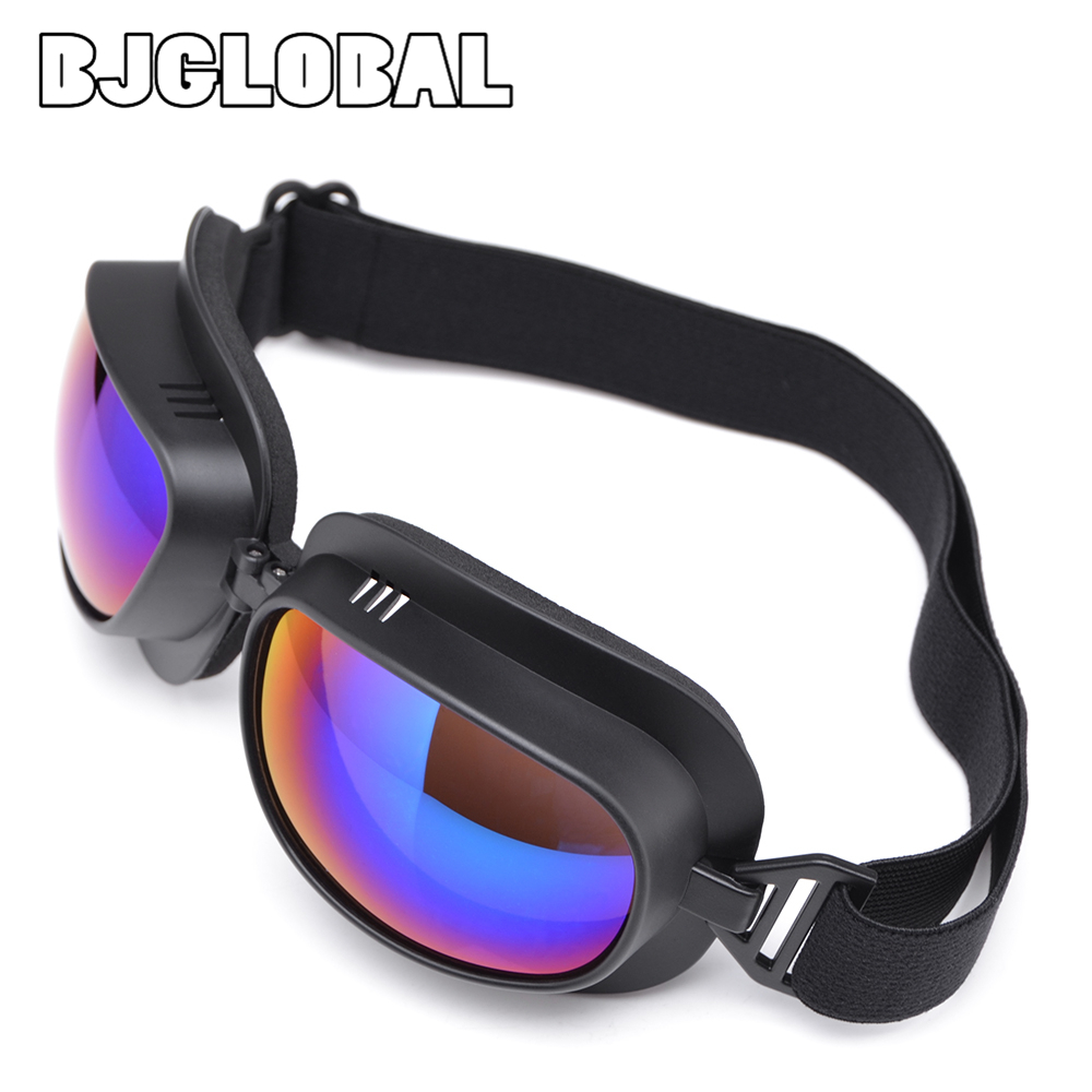 New Universal Vintage Motorcycle Goggles Pilot Motorbike Scooter Biker Riding Glasses Helmet Goggles Off-Road For Harley Motor