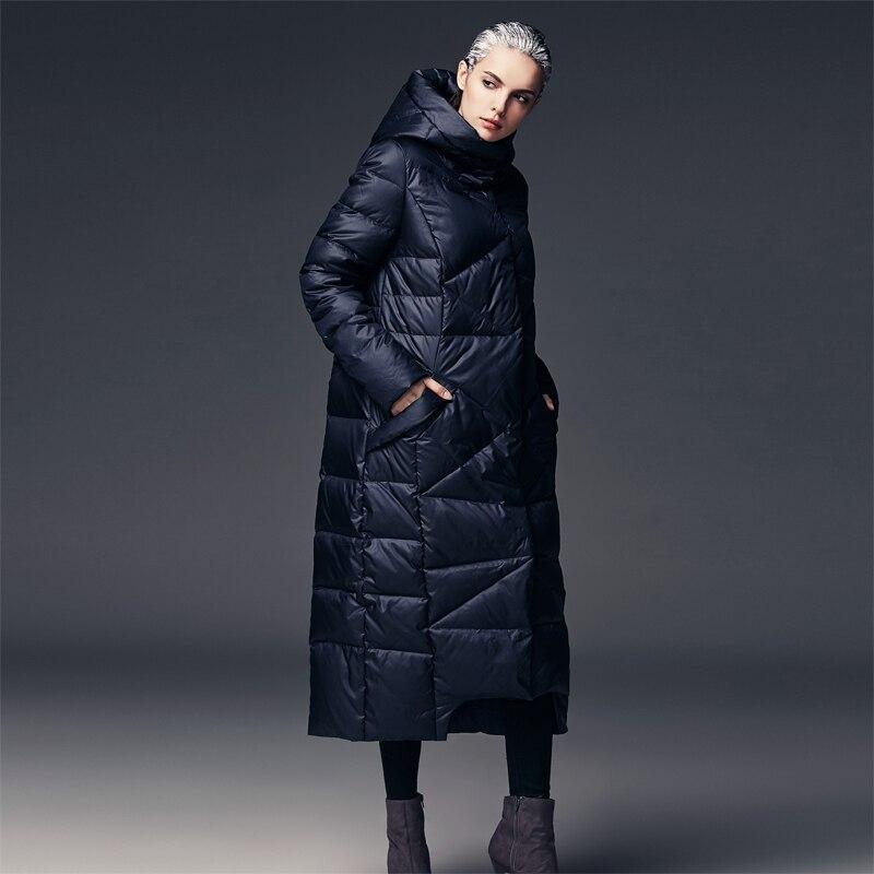 US $71.91 10% OFF|2016 neue ankunft warme jacke parkas lose jacke plus größen wintermantel frauen extra lange puffer mantel mit kapuze weiß in