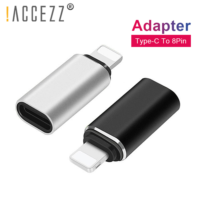!ACCEZZ Mini USB OTG Adapter Type-C Female To Lighting Male For Apple Adapter For Iphone X XS XR 8 7 Plus Sync Charger Converter