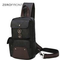 ZEROFRONT New Hot Selling Men's chest Bag Casual Business PU Leather Mens Weekend bag Men's Shoulder Bag Men's Handbags Designe