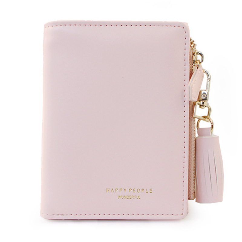 Bifold Women's Purse Tassel Women Wallet PU Leather Short Credit Card Holder Ladies Purse Zipper Design Female Wallets