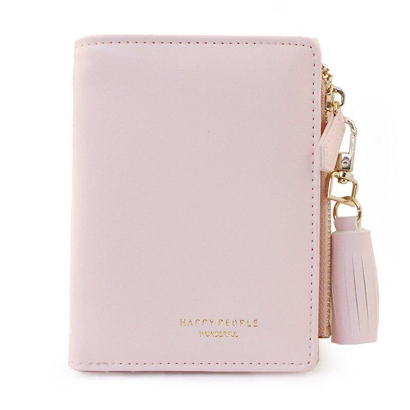 Bifold Women's Purse Tassel Women Wallet PU Leather Short Credit Card Holder Ladies Purse Zipper Design Female Wallets