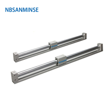 NBSANMINSE CY3R 25mm Magnetically Coupled Rodless SMC Type  Pneumatic Compress Air Cylinder Directly Mount