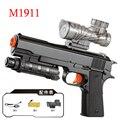 Desert Eagle pistola Eléctrica Repitiendo Crystal Bullet Paintball Pistola M1911 Armas USB de Carga Automática de Agua de Juguete Regalo de Los Niños