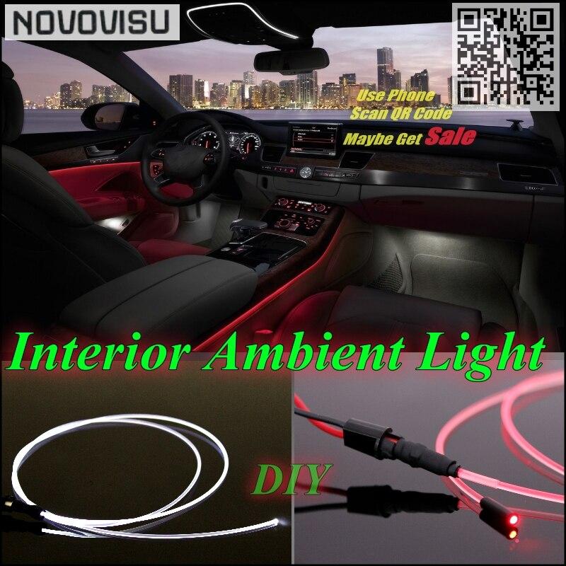 Για το Audi Q7 4L αυτοκίνητο Εσωτερικό φωτισμό περιβάλλοντος φωτισμού πίνακα για το αυτοκίνητο στο εσωτερικό Επανατοποθετήστε Cool Strip Light / οπτικών ινών συγκρότημα