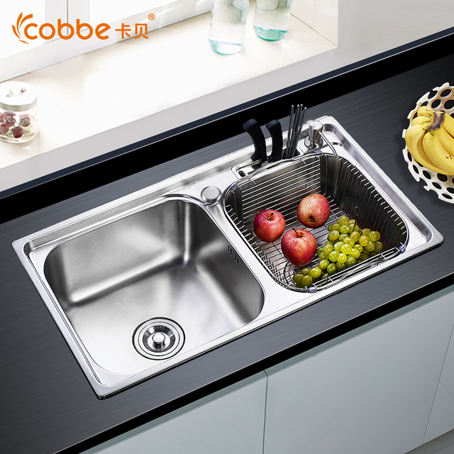 304 Stainless Steel Above Counter Kitchen Sinks Single & Double Bowl ...