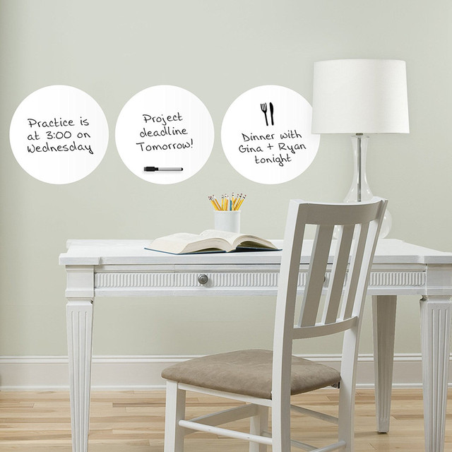 3pcs Wall Stickers Whiteboard Fridge Kitchen Home Office Reminder Magnet Dry  Erase Board White Boards