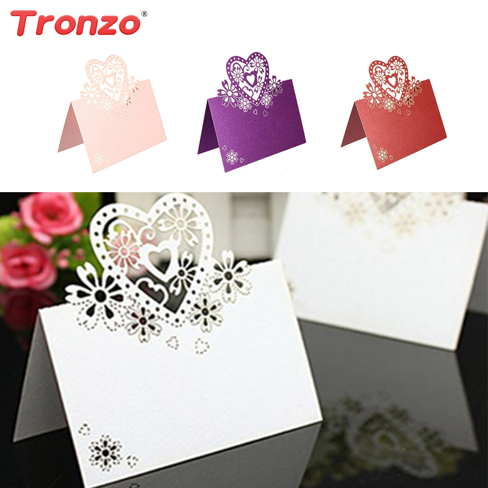 Tronzo Wedding Invitation Card Wedding Decoration Table Centerpieces 10pcs/set Laser Cut ...