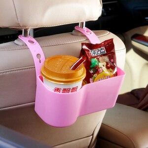 Image 5 - Auto Organizzatore Supporto di Tazza Sostegni bevande Accessori Per Auto Multifunzione Cibo Ripiani Sedile Posteriore Regolabile Automobili Forniture
