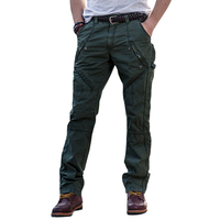 Panties Washed Pants Straight Jeans Tooling Pants Multi Pocket Loose Waist 29 38 Code Man Student