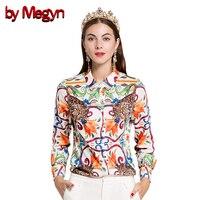 by Megyn 2017 Summer Women Shirt long sleeve women blouses free shipping Blouses fashion casual plus size XXXL female shirts