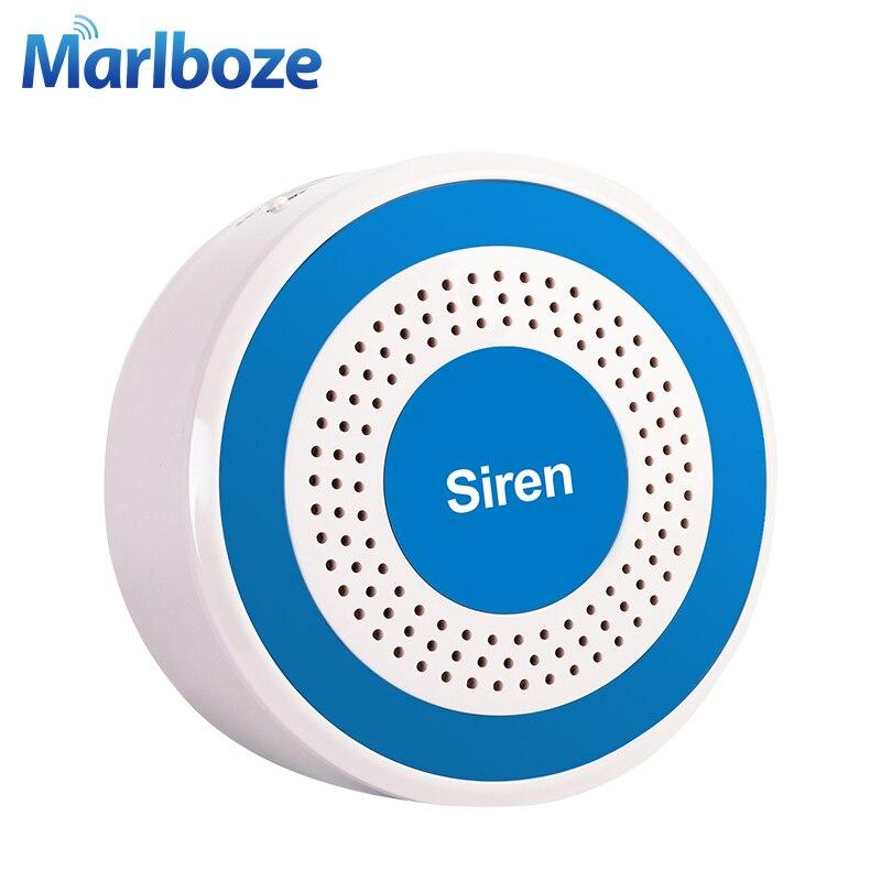Image 3 - Marlboze 433mhz Wireless Sound and Light Siren 100dB Strobe Siren for PG103 PG168 Home Security WIFI GSM Alarm Panel Systemsiren strobesound wirelesssiren sound -