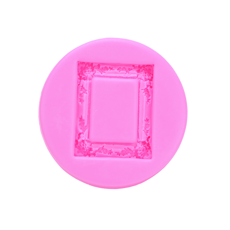 Retro Frame Shape Fondant cake silicone mould Kitchen for Gum paste Chocolate Trim moldi ...
