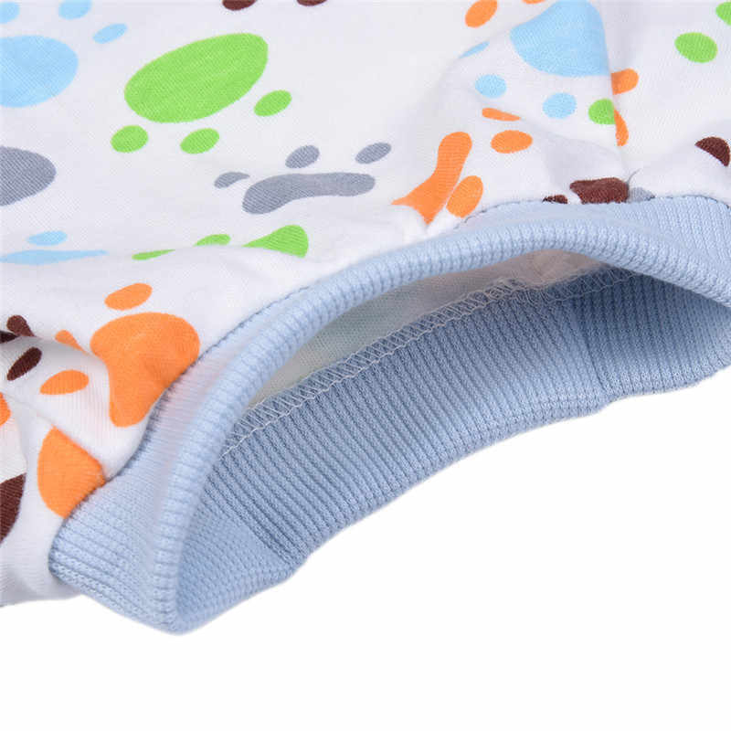 Собачья Пижама милый комбинезон с принтом ног мягкие уютные Домашние животные Щенок Кошка одежда для сна комбинезон 1 шт.
