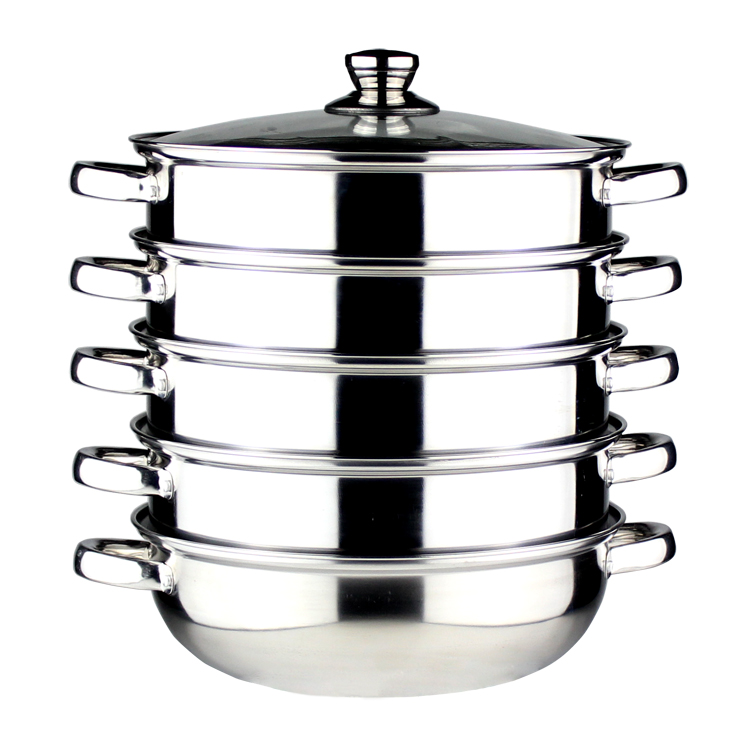 FREE SHIPPING COOKING POT inox steamer pot Stainless steel steamer hot pot steamer 28cm multi layer форма для нарезки арбуза