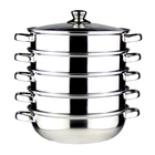 FREE SHIPPING COOKING POT inox steamer pot Stainless steel steamer hot pot steamer 28cm multi layer