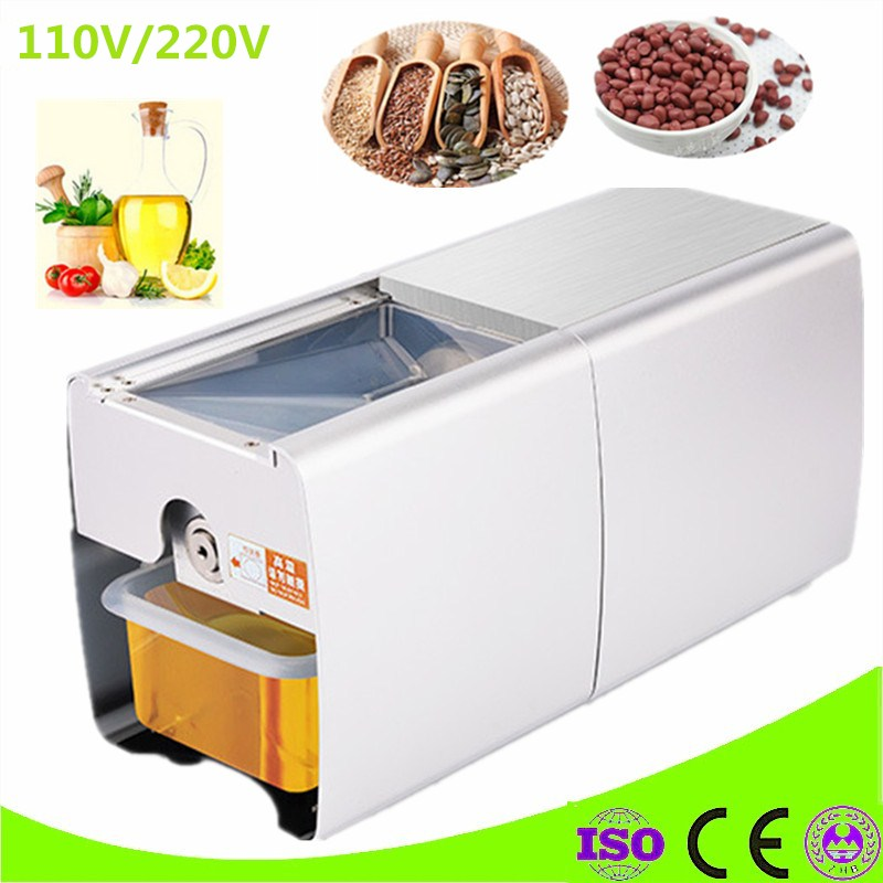 Commercial Oil Press Stainless Steel Automatic Cold Press Oil Machine Electric Oil Pressure Sunflower Seeds Oil Extractor automatic stainless steel cold press oil extraction machine heat seeds oil press machine acoconut almond nut oil extractor