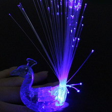 5Pcs Peacock Finger Light Colorful LED
