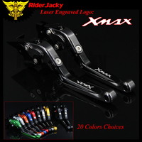 RiderJacky 1 Pair Titanium Black Motorcycle Folding Extendable Brake Clutch Levers For Yamaha XMAX 300 X