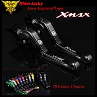 RiderJacky 1 Pair Titanium Black Motorcycle Folding Extendable Brake Clutch Levers For Yamaha XMAX 300 X