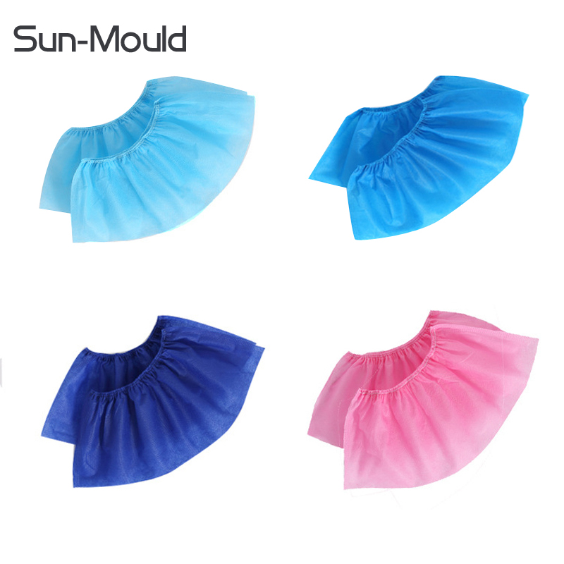 Disposable disposable shoe covers Blue pink non-woven fabrics cleaning food industry medical hopsiptal  room Shoes Cover 400pcs youful ly 90 thickened disposable shoe