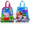 2pcs Lovely Pig Cartoon Drawstring Backpack Bags 34*27CM Non-Woven Fabric Multipurpose Bags Kids Party Gifts,School Furniture